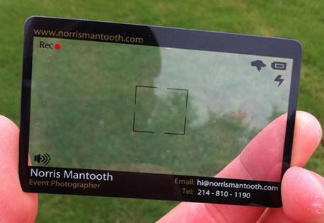 Carte de visite transparante